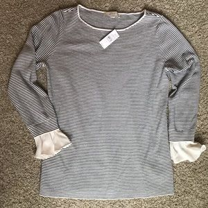 Loft sweater with blouse sleeves